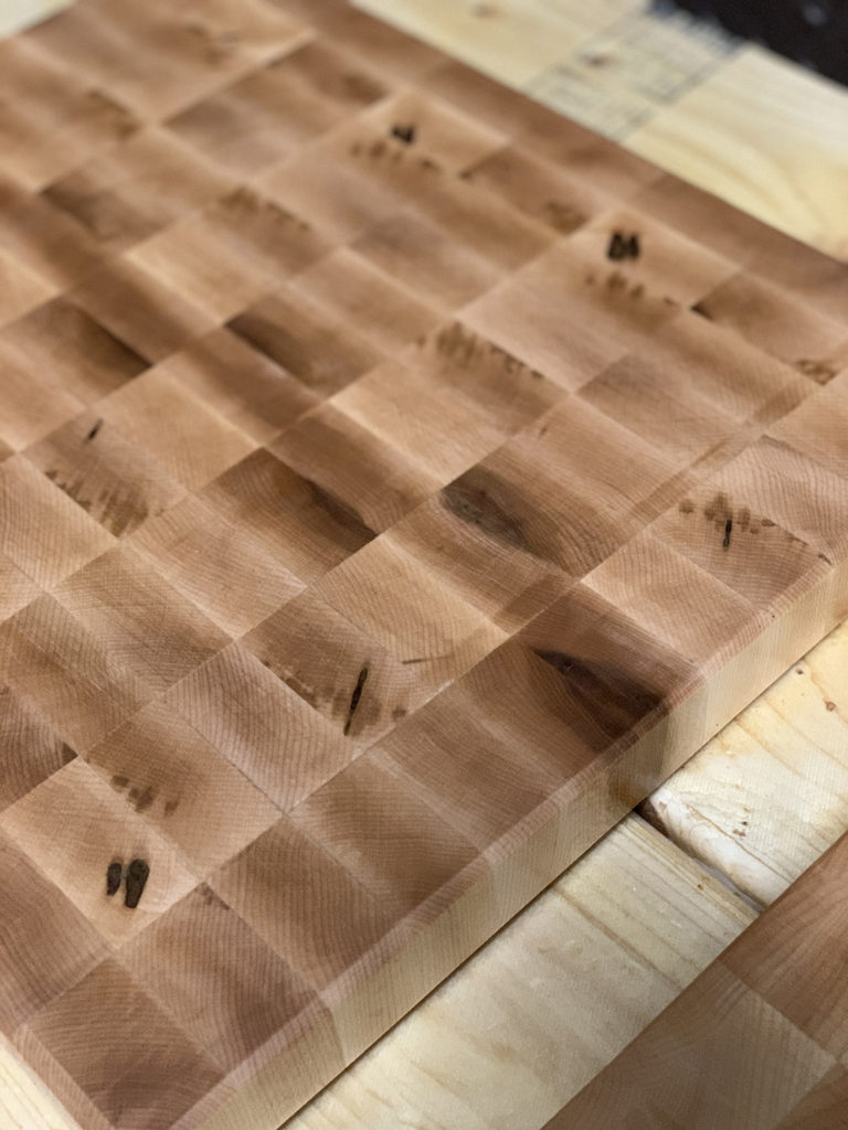 How to build an end-grain cutting board for a beginner.